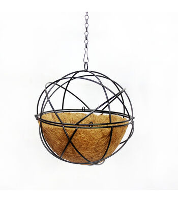 """In the Garden 10"""" Round Hanging Planter with Coco Liner"""