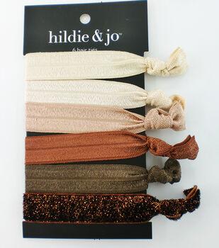 hildie & jo 6 pk Polyester Hair Ties-Earth Tones