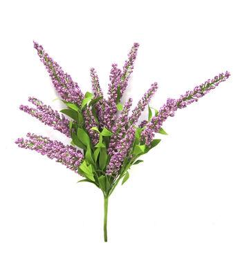 Fresh Picked Spring 20'' Heather Bush-Purple