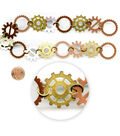 Blue Moon Beads 14\u0022 Strand, Metal Connectors, Gears, Copper/Ox Brass