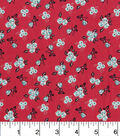 Keepsake Calico Cotton Fabric-Ditsy Floral Red