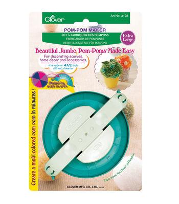 """Clover Pom Pom Maker Extra Large-1/Pkg 4-1/2"""""""