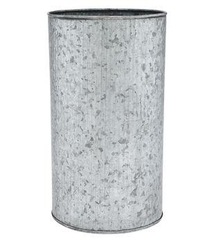 Ribbed Round Galvanized Container 10''