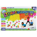 Straws & Connectors, 300 pieces, Neon colors