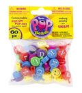 Pop Beads 60/Pkg-Alpha Smiley