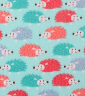 "Blizzard Fleece Fabric 59""-Happy Hedgehog"