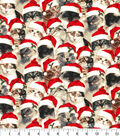 Christmas Cotton Fabric-Santa Cats