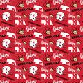 University of Nebraska Huskers Cotton Fabric-Tone on Tone