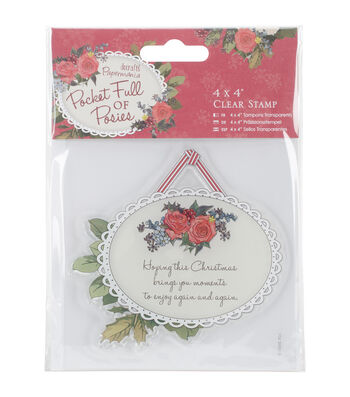 Papermania Pocket Full Of Posies Clear Stamps-Hanging Tag