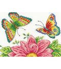 DMC Susan Bates 10\u0027\u0027x6.5\u0027\u0027 Counted Cross Stitch Kit-Butterfly Garden