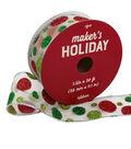 Maker\u0027s Holiday Sheer Ribbon 1.5\u0027\u0027x30\u0027-Red & Green Glitter Dots