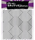 Brutus Monroe 5.75\u0027\u0027x5.75\u0027\u0027 Clear Stamps -Wave Background