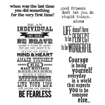 """Tim Holtz Cling Stamps 7""""X8.5""""-Way With Words"""