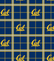 "University of California, Berkeley Golden Bears Flannel Fabric 42""-Plaid, , hi-res"
