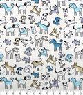 Novelty Cotton Fabric-Playful Doggies