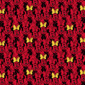 Disney Knit Fabric-Minnie Mouse on Red