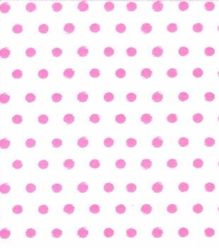 Super Snuggle Flannel Fabric-Pink Dot