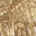 Casa Embellish Ember Sequin Fabric-Metallic Gold Fringe Border