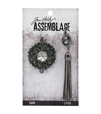 Tim Holtz Assemblage 2 Pack Adorned Bijou & Tassel Charms