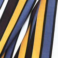 Knit Prints Double Brushed Fabric-Purple, Gold & Blue Stripe