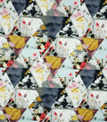 Spring Sheen Scuba Knit Fabric -Floral Triangle