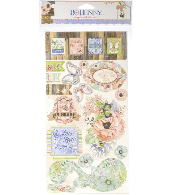 Butterfly Kisses Chipboard Stickers 6''X12'', , hi-res, image 2