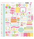 Echo Park Paper Company Birthday Wishes Girl Element Cardstock Stickers