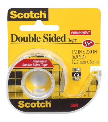 "Scotch Permanent Double-Sided Tape-.5""x250"""