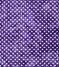 Quilter\u0027s Flannel Fabric-Dots on Purple