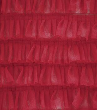 Sew Sweet Mesh Fabric-Ribbon Ruffle on Red