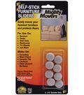 Mighty Movers Self-Stick Furniture Sliders .7\u0022 Round