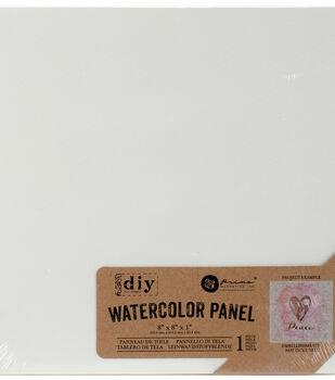 """Prima Marketing Watercolor 8""""x8""""x1"""" Canvas Panel"""