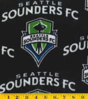 Seattle Sounders Fleece Fabric -Logo, , hi-res