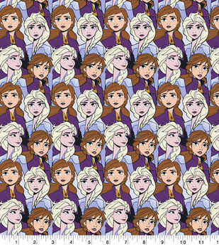 Disney Frozen 2 Cotton Knit Fabric-Elsa & Anna Packed