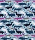 Snuggle Flannel Fabric-Sea Animals