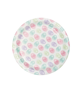 Easter Decor 8 pk Painted Lunch Plates-Eggs