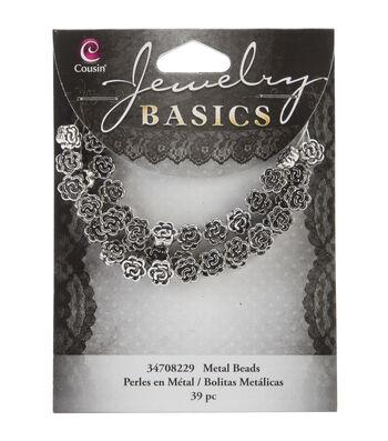 Jewelry Basics Metal Beads 39/Pkg-7mm Silver Flower
