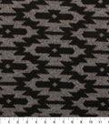 Sweater Knit Fabric 59\u0022-Black Grey Geo