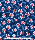 Chicago Cubs Flannel Fabric 42\u0022-Tie Dye