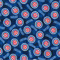 Chicago Cubs Flannel Fabric-Tie Dye