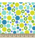 Snuggle Flannel Fabric 42\u0022-Birds & Bubbles Blue