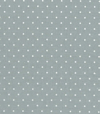 "Quilter's Showcase Cotton Fabric 44""-Aspirin Dot Gray"
