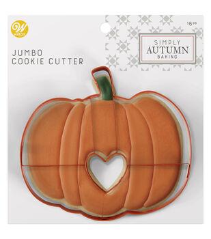 Wilton Simply Autumn Jumbo Cookie Cutter-Pumpkin