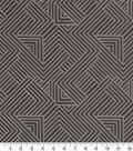 Robert Allen @ Home Upholstery Swatch 59\u0022-Folded Maze Charcoal