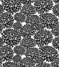 Quilter\u0027s Showcase Fabric 44\u0027\u0027-Black Mum Floral