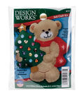 Design Works Christmas 3\u0027\u0027x4\u0027\u0027 Bear Ornament Felt Craft Kit