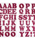 Jolee\u0027s Boutique 42 pk 1.5\u0027\u0027 Glitter Letters Iron-on Transfers-Pink