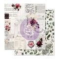 Prima Marketing Midnight Garden Double-sided Cardstock-Rose Receipts