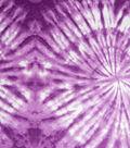 Snuggle Flannel Fabric 42\u0022-Purple Magic Circle Tiedye