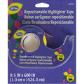 Dritz Loran 0.5\u0027\u0027x600\u0027\u0027 Repositionable Highlighter Tape-Yellow